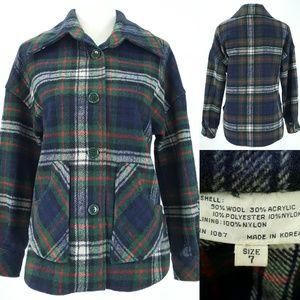 vintage 70s Plaid Wool Acrylic Blend Jacket 7